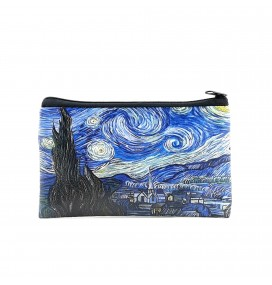 Van Gogh Starry Night Printed Big Coins Bag