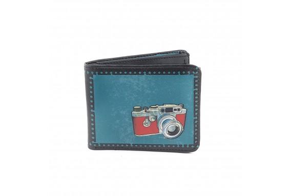 Retro Photocam Printed Man Wallet