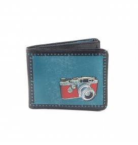 Retro Photocam Printed Man Wallet