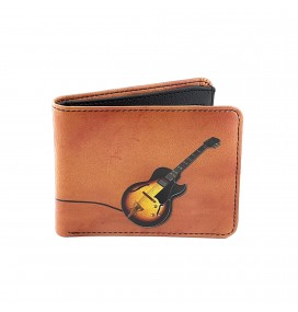 Guitar Printed Man Wallet