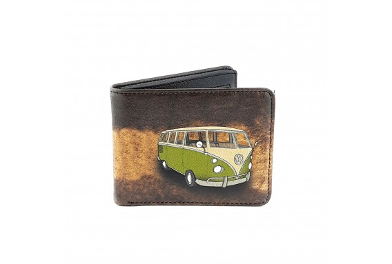 VW Hippie Van Printed Man Wallet