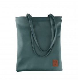 Pera Green Zippered Shoulder Bag