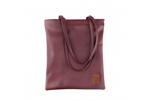 Pera Bordo Zippered Tote Bag