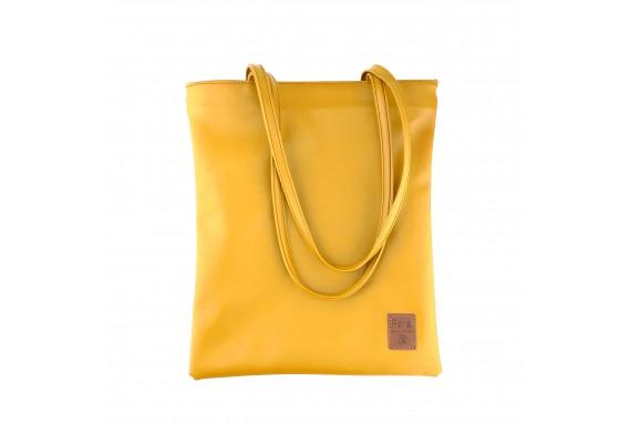 Pera Yellow Zippered Tote Bag