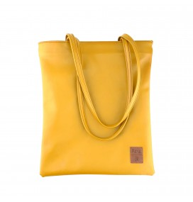 Pera Yellow Zippered Tote Bag