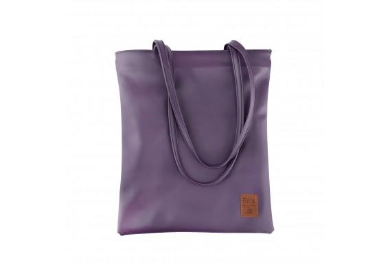Pera Purple Zippered Tote Bag