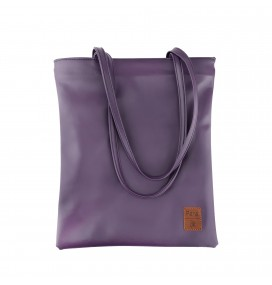 Pera Purple Zippered Tote Bag